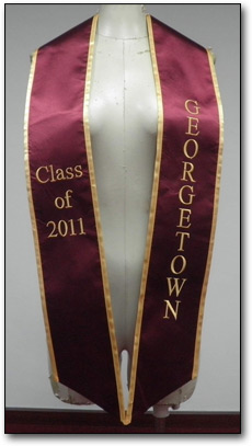 Custom embroidered deluxe graduation stoles