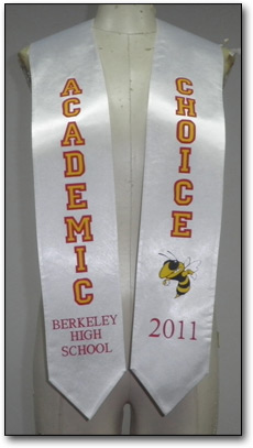 Custom imprinted graduation stoles