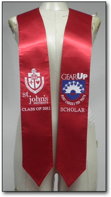 Custom embroidered standard graduation stoles